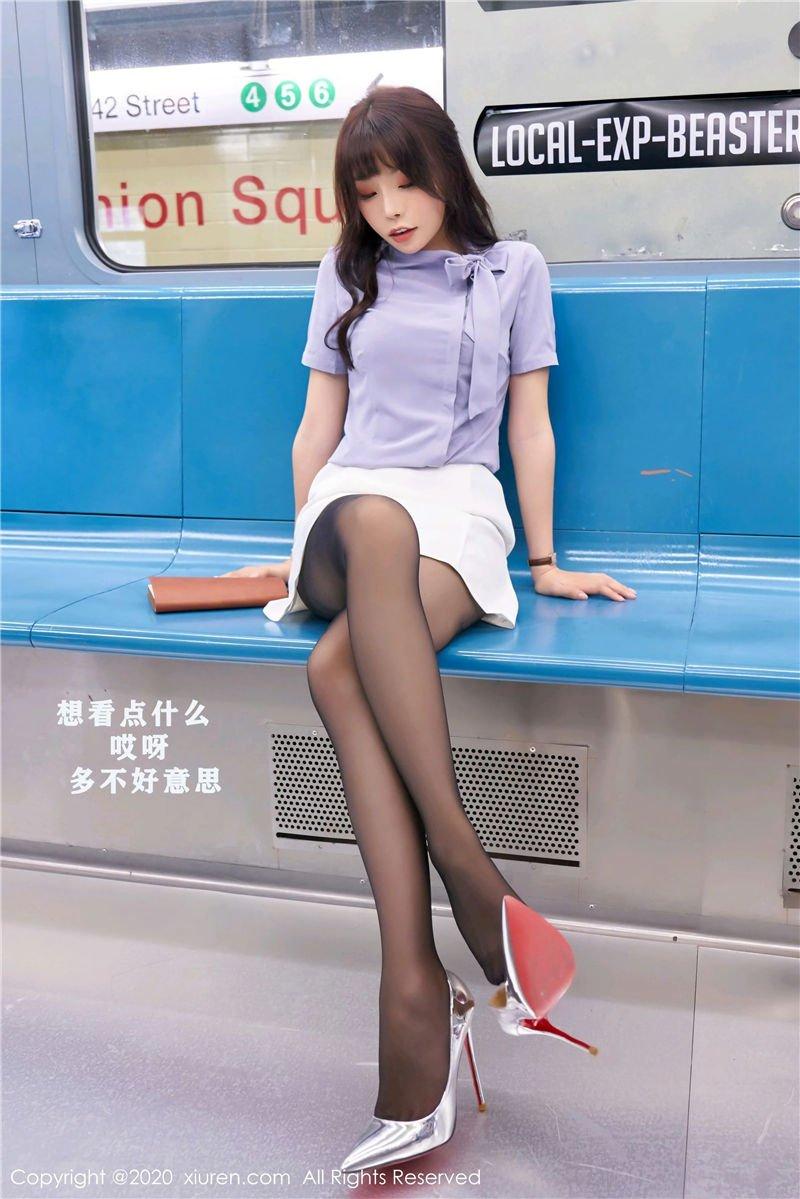 芝芝Booty《地铁场景剧情》(Vol. 2834) 性感mm-第3张