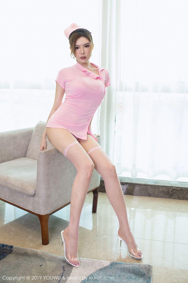 美女模特夏小秋秋秋护士制服与黑丝诱惑迷人写真 VOL.162 内衣mm-第3张